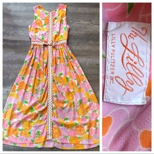 Vintage Lilly Pulitzer Long Floral Maxi Dress